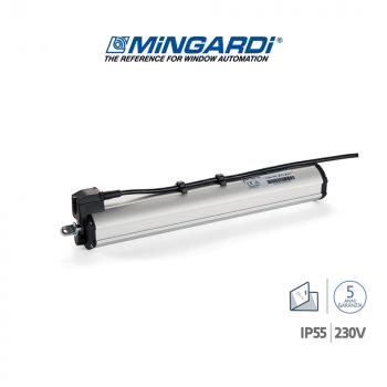 D8 FCE 230V Mingardi attuatore a stelo per lucernari e cupole