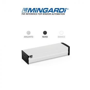Attuatore a catena Mingardi Micro 02 corsa 250//365 mm 230 V 150//300 N Bianco