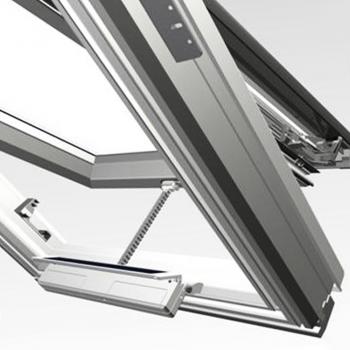 Motore per finestre a energia solare con pannello solare integrato VCD-S Solar Set