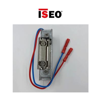 040030 Iseo - Incontro elettrico sganciamento permanente 6-12Vac/Vdc reversibile per porte metalliche