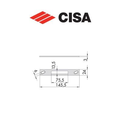 Contropiastra in acciaio Cisa art. 0646134
