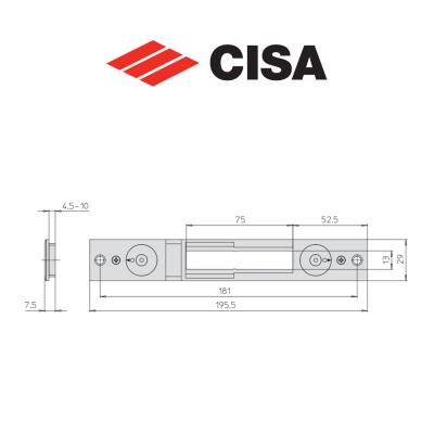 Contropiastra in metallo Cisa art. 0646525