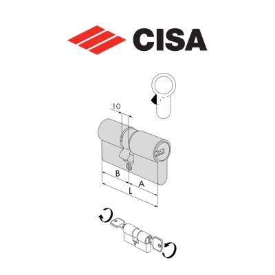 Mezzo cilindro a profilo europeo Cisa Asix art. 0E304KA