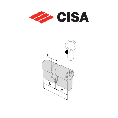 Mezzo cilindro a profilo europeo Cisa C2000 art. 0G304