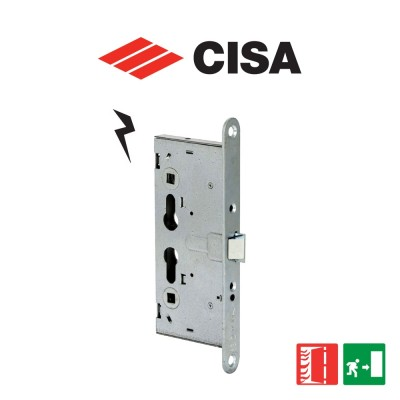 Serratura antipanico elettrica a cilindro per porte tagliafuoco e antipanico Cisa Mito Panic entrata 65 art. 1311065