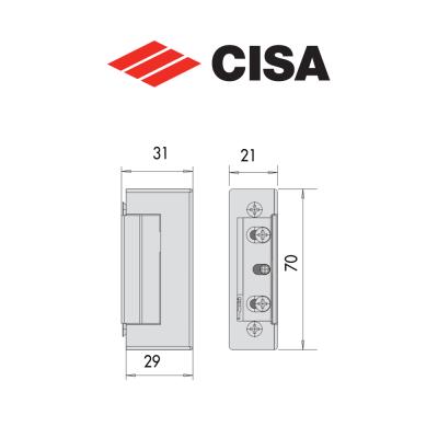 Incontro elettrico per serrature Cisa art. 15160