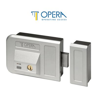 28003 Opera elettroserratura con chiave e pulsante per cancelli e portoni