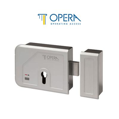 28203 Opera elettroserratura motorizzata per cancelli e portoni serie Gate Bolt con pulsante