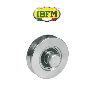 Ruota per cancelli Ibfm 1 cuscinetto a sfera gola V Inox art. 962