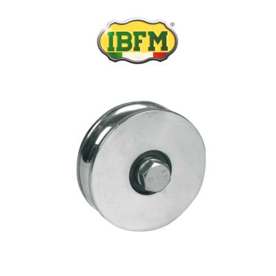 Ruota per cancelli Ibfm 1 cuscinetto a sfera gola tonda d. 20 Inox art. 964