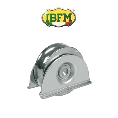 Ruota per cancelli Ibfm con supporti laterali 2 cuscinetti gola tonda d. 20 art. 387/A