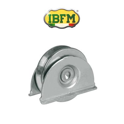 Ruota per cancelli Ibfm con supporti laterali 2 cuscinetti gola V art. 388/A