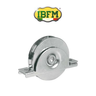 Ruota per cancelli Ibfm con supporto interno 1 cuscinetto gola V Inox art. 993