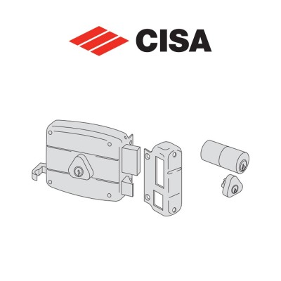 Serratura meccanica a cilindro Cisa entrata 70 Sinistrra art. 50421702