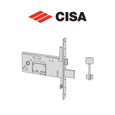Serratura meccanica a doppia mappa Cisa entrata 90 art. 5735790