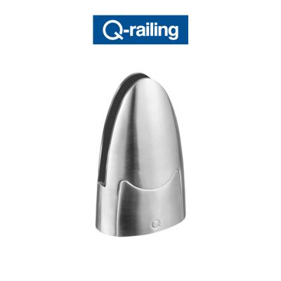 MOD 6000 Q-Railing morsetti per vetro a pavimento Easy Glass