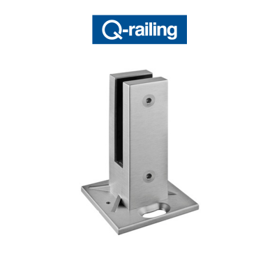 MOD 6200 Q-Railing morsetti per vetro a pavimento Easy Glass
