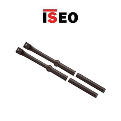 Coppia aste telescopiche per serrature triplici di sicurezza Iseo art. 990063