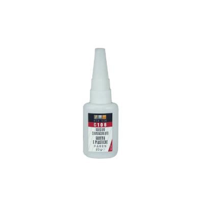 Adesivo cianoacrilato gomme e plastiche C106 Faren 20 g