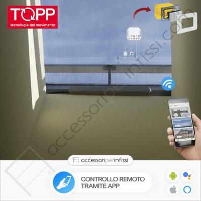 KIT APP SOLUTION - C15 Topp - Controllo remoto tramite APP - Compatibile con Google Assistant e Amazon Alexa
