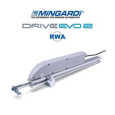 DRIVE EVO 2 - 24V RWA - Mingardi | Attuatore elettrico a cremagliera per lucernari cupole e frangisole