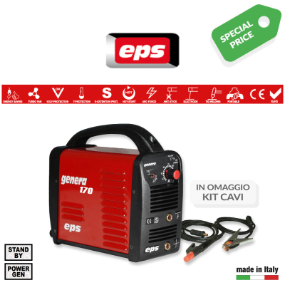 Saldatrice Eps Genera 170 con kit cavi di saldatura 16 mm² art. E9GEN170