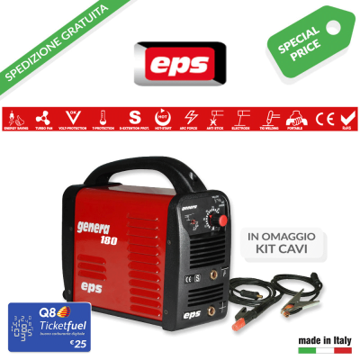 Saldatrice Eps Genera 180 con kit cavi di saldatura 16 mm² art. E9GEN180