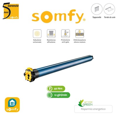 Motore per tapparelle Somfy LT50 HiPro WT 40/12 Mariner compatibile Faac BFT Nice Cherubini