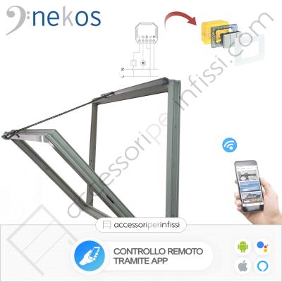 KIT APP SOLUTION - INKA 356 Nekos attuatore a catena - Controllo remoto tramite APP - Compatibile con Google Assistant e Amazon Alexa