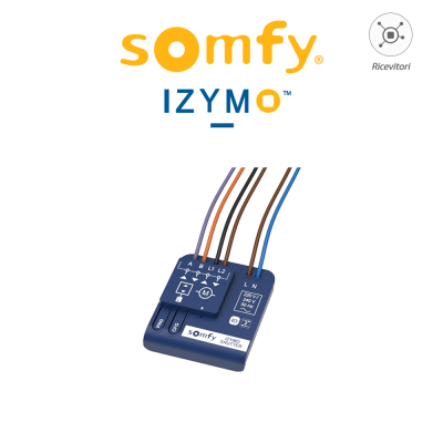 Ricevitore per motori cablati Somfy Izymo Shutter Receiver IO art. 1822660