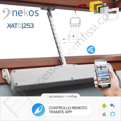 KIT APP SOLUTION - KATO 253 Nekos - Controllo remoto tramite APP - Compatibile con Google Assistant e Amazon Alexa