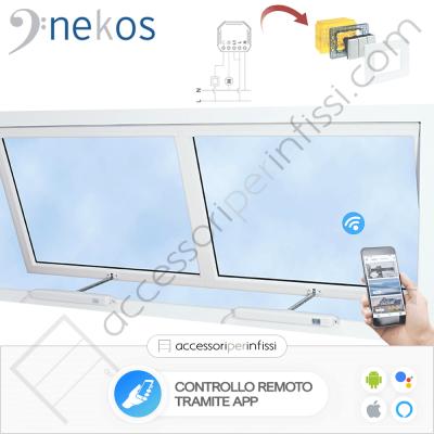 KIT APP SOLUTION - KATO SYNCRO³ Nekos coppia attuatori a catena - Controllo remoto tramite APP - Compatibile con Google Assistant e Amazon Alexa