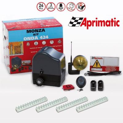 Kit automazione per cancelli scorrevoli Aprimatic Kit Monza Onda 424 art. 41101/800