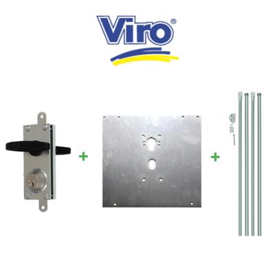 Kit serratura corazzata per porte basculanti Viro art. 8217.0010