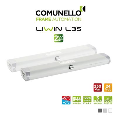 LIWIN L35 2W-NET Comunello | Doppio attuatore elettrico a catena per finestre vasistas e a sporgere