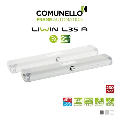 LIWIN L35 RADIO 2W-NET Comunello | Doppio attuatore elettrico radiocomandato a catena per finestre vasistas e a sporgere