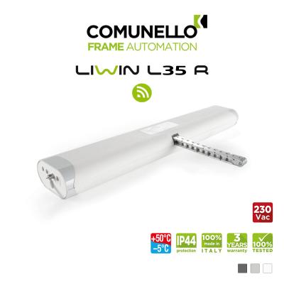 LIWIN L35 RADIO Comunello | Attuatore elettrico radiocomandato a catena per finestre vasistas e a sporgere