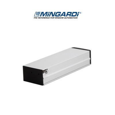 Motore attuatore a catena Mingardi Micro 02 corsa 250/365 mm 230 V 150/300 N Argento art. 2700462