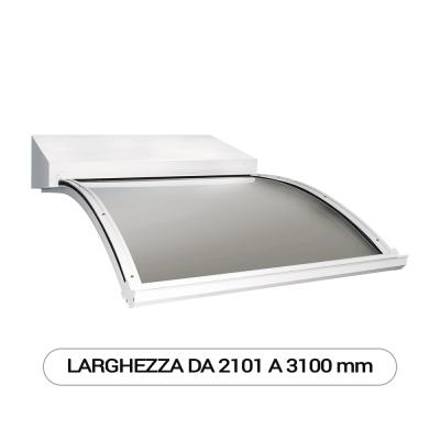 Modello J pensilina a sbalzo modulare per esterni - Larghezza da 2101 a 3100 mm