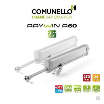 RAYWIN R60 2W-NET Comunello - Doppio attuatore elettrico a stelo per finestre a sporgere e lucernari