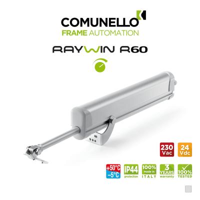 RAYWIN R60 REGULATOR Comunello - Attuatore elettrico a stelo per finestre a sporgere e lucernari