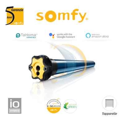 Motore per tapparelle Somfy RS 100 io Hybrid