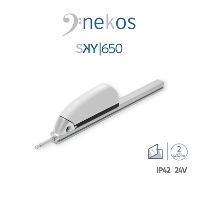 SKY 650 24V Nekos attuatore a cremagliera per lucernari e cupole