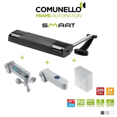 KIT COMUNELLO SMART attuatore a catena + sensore pioggia + sensore vento sole + unità controllo senza ricevente