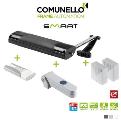KIT COMUNELLO SMART attuatore a catena + telecomando monocanale + unità controllo + sensore pioggia + unità controllo senza ricevente