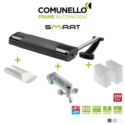KIT COMUNELLO SMART attuatore a catena + telecomando monocanale + unità controllo + sensore vento sole + unità controllo senza ricevente