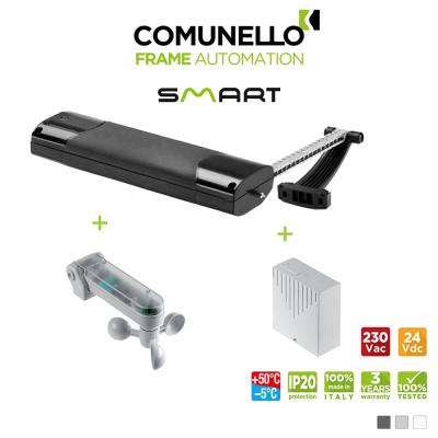 KIT COMUNELLO SMART attuatore a catena + sensore vento sole + unità controllo senza ricevente