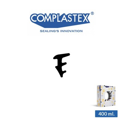 Guarnizione fermavetro interna Complastex serie UP Nera