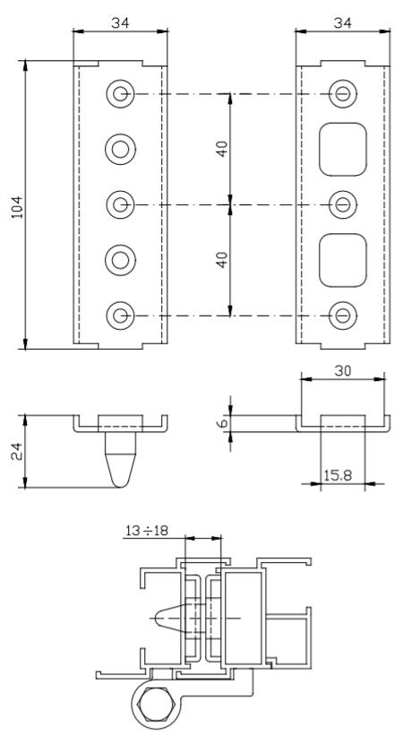 /12/look 3/porte plastica poliuretano Kitt RSAUA38P3D spoiler da tetto Hatchback 03/